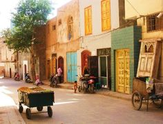Kashgar's Old City - but on a quiet day I think!