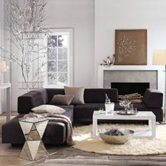 Modern with glam living room. Float furniture.