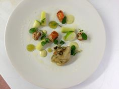 Connor Carway ‏@Chef_Carway  Oysters, green apple, cucumber and pan roasted langoustines MAY/JUNE