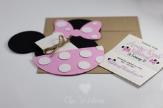 Minnie Mouse Invitacion Cumpleaños Mickye by ChicInvitationsByCA