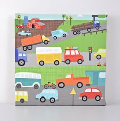 Move Me By Land  Traffic  Canvas Wall Art by VickyBaroneDesigns