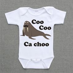 The Beatles Coo Coo Ca Choo I Am The Walrus Onesie Baby Bodysuit or Shirt cute funny baby gift under 25 on Etsy, $12.95