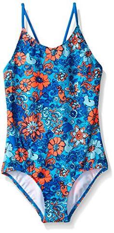 9dcda992e400d Kanu Surf Big Girls Karlie Flower One Piece Swimsuit, Blue, 14