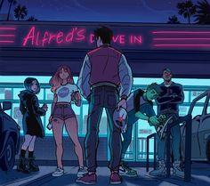 Los Teens Titans por Gabriel Piccolo.