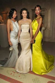 Chanel Iman, Kendall Jenner and Jourdan Dunn, all in Topshop, at the Met Gala.