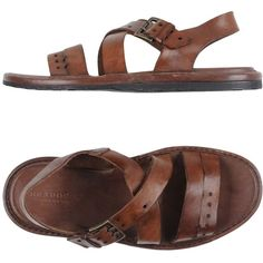 Brador Sandals ($178) ❤ liked on Polyvore featuring men's fashion, men's shoes, men's sandals, cocoa, mens leather shoes, mens leather sandals, mens leather buckle sandals and mens buckle shoes