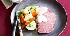 Enjoy this Corned beef with vegetables and mustard sauce recipe for winter.