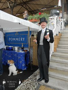 Henry de Winter in Morning Coat with Top Hat, Monocle & Derby Shoes