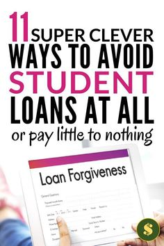 Trying to pay off debt in the form of student loans is hard. You know there are ways to pay off your student loans or avoid not having a student loan Private Student Loan, Paying Off Student Loans, Student Loan Debt, Best Payday Loans, Loans For Poor Credit, Student Loan Forgiveness, Loan Company, Paying Off Credit Cards, Scholarships For College
