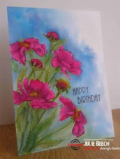 Crafted by Jules: Watercolour flowers