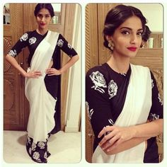 Sonam Kapoor in a Masaba Gupta creation for Satya Paul.
