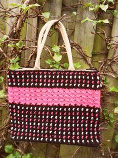 gemaakt door Martha Veenstra Chrochet, Jute, Straw Bag, Diy, Knitting, Crochet, Bricolage, Tricot, Breien