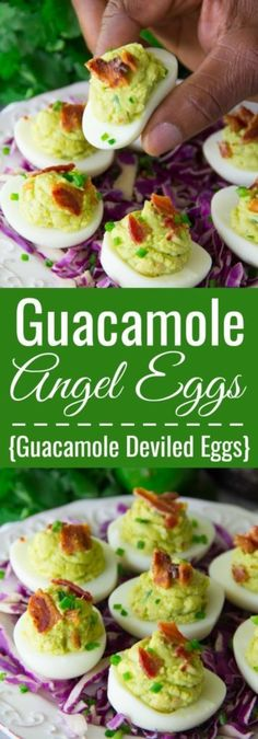 Guacamole Angel Eggs [Guacamole Deviled Eggs Recipe] are such a healthier alternative loaded with so much zesty flavor. They are sure to please the guacamole lover in your life!!
