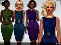Sims  Addictions: S4 Satina Dress