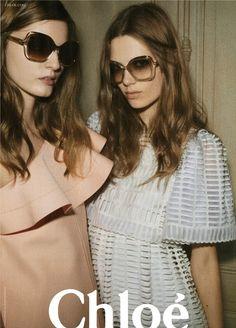Chloe campaign/sisters/models in twos