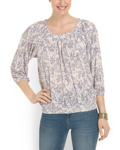 Dolman+Sleeve+Boho+Top