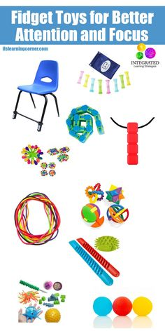 Fidget Tools for Better Attention and Focus in the Classroom - Integrated Learning Strategies Sensory Tools, Autism Sensory, Sensory Activities, Sensory Play, Infant Activities, Activities For Kids, Sensory Motor, Autism Activities, Motor Activities