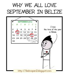 Why We all love September in Belize [Comic]