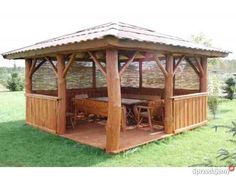 Wooden Summer House, Gazebo, Sweet Home, Home And Garden, Outdoor Structures, Building, Kiosk, House Beautiful, Pavilion