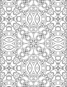 free adult coloring page abstract pattern by thaneeya mcardle - Free Coloring Pictures