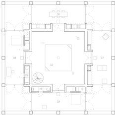 Second floor plan of Pezo von Ellrichshausen's Casa Pezo is first of 12 architect-designed dream houses