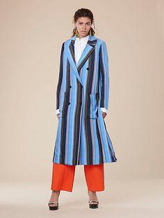 long sleeve floor length coat by DVF