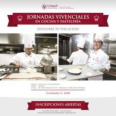 #IngresoIACG | El Instituto de Alta Cocina y Gastronomía USMP te invita a participar en sus #JornadasVivenciales y descubrir tu vocación por la gastronomía.