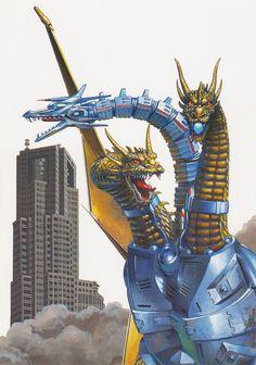Mecha-King Ghidorah by Yuji Kaida