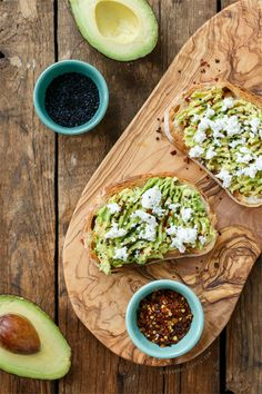 Goat Cheese & Avocado Toast from @loveandoliveoil