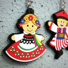 Brelok folk Krakowianka FOLK FELLOWS - tradycyjny strój ludowy