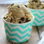 This healthy, homemade recipe for chocolate chip cookie dough frozen yogurt will soon become one of your favorite desserts..even without an ice cream maker!