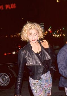 Madonna 1989 - wearing shorts made for her by friend Keith Haring.