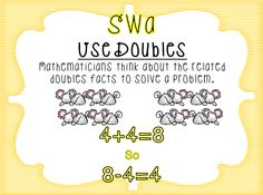 First Grade Wow: Math Thinking Patterns and CUBES strategy