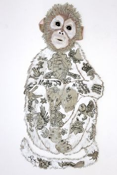 embroidered monkey