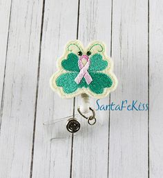 Butterfly Breast Cancer Awareness Felt Badge Holder with Retractable Badge Reel. A great ID Badge Holder for yourself or for a special gift - pinned by pin4etsy.com