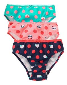 Animal Dot Panties Three-Pack at Gymboree