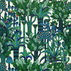 Pierre Marie for Dedar/Hermès Paris Pierre Marie, Hermes Home, Indian Garden, Autumn Illustration, My New Room, Botanical Prints, Botanical Drawings, Decoration, Pattern Design