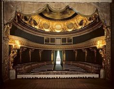 View from the stage of Marie Antoinette's theater at the Petit Trianon