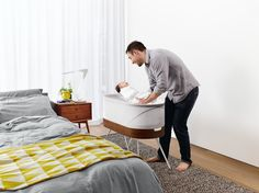 A motion and sound sensor tips the crib into action when the baby wakes or cries, activating a motorized swing and either a low-pitched white noise to encourage sleep or a higher pitch to calm a crying infant. In addition to its automatic setting, a mobile app allows parents to monitor and control Snoo remotely. While the crib will fit only small children, its technology has implications that last far beyond infancy: By promoting these sleep habits early, Snoo helps to train a baby's…
