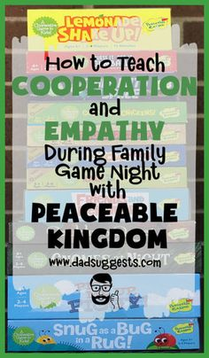 Cooperative games are our favorite board games to play with our kids – and Peaceable Kingdom is the king of cooperative board games. And, that's not all – they often teach empathy too! - Education and lifestyle Family Games To Play, Games To Play With Kids, Family Board Games, Kids Board, Board Games For Two, Cooperative Games, School Games, Family Game Night, News Games