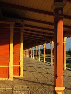 Railway station platform, Haapsalu, Estonia