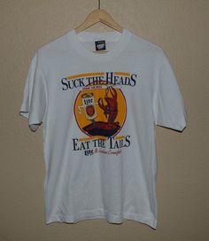 48d1921790102 Mens Vintage VTG Screen Stars 50 50 Louisiana Beer and Crawfish T-Shirt  LARGE