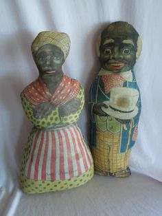 """Charming 16"""" Aunt Jemima and Uncle Mose Advertising Dolls c.1929"""