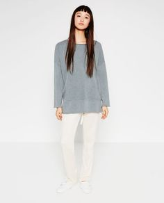 Image 1 of OVERSIZED SWEATSHIRT from Zara