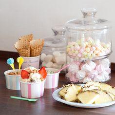 Ice cream cups in two colours. In stores now. Price DKK 8,80 / SEK 11,96 / NOK 12,66 / EUR 1,23 / ISL 249 / GBP 0.98  #icecreamcups #kitchen #dessert #sweets #kitchen #inspiration #sostrenegrene #søstrenegrene