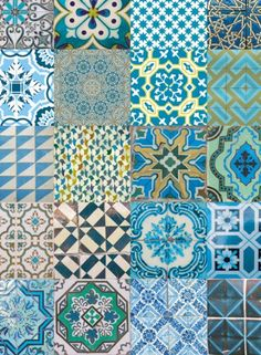 Oh wallpaper | Portuguese Tiles 1 | SHOP | Portugal Design Market