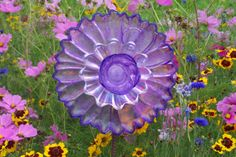 Beautiful Vintage Purple Painted Glass by MyDragonflyMeadows, $30.00