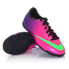 Nike Mercurial Victory IV IC - Junior Indoor Soccer Shoes - Fireberry- I  want these so bad omg 7d79eee80a199