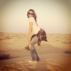Then.. Don't Stop Pop Dat Don't Stop On A Sand Dune:)..#Dubai