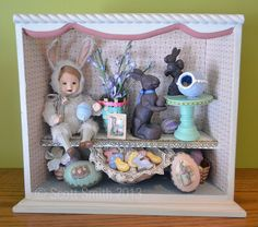 Created a few years back, Easter Sweet Shop by Scott Smith of Rucus Studio Scott Smith, Furniture Projects, Shadow Box, Amazing Art, Bunny, Easter, Display, Studio, Toys